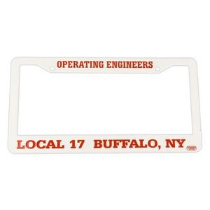 Hi-Impact 3D Two Corner License Plate Frame