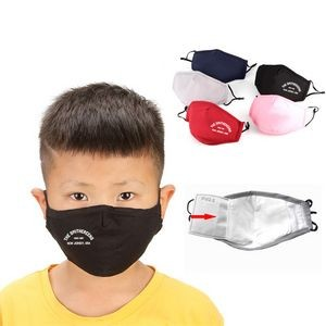 Adjustable Youth Size Cotton Face Mask
