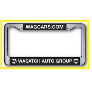 2 Step Plastic Raised Copy License Plate Frame